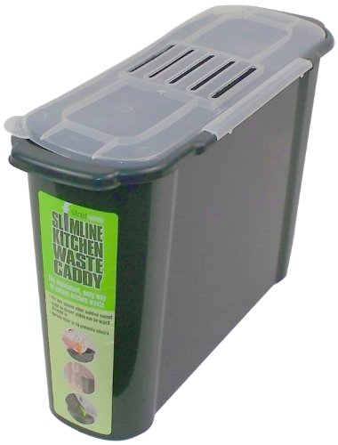 Bosmere K779 Slim Kitchen Recycled Plastic Compost Caddy