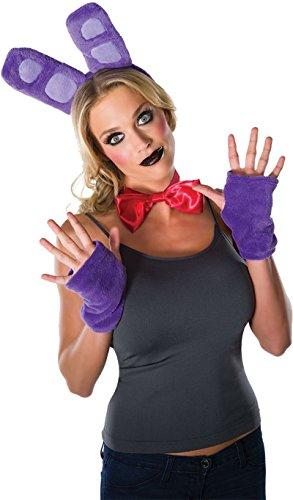 33634 Adult Five Nights at Freddys Plush Bonnie Costume Kit Purple ()