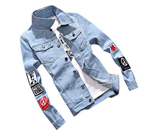 Men's Slim Cowboy Jacket Outwear Fit Stylish Washed Denim Two Coat Sankt 4pAwxA