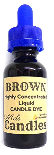 Liquid Candle Dye (Brown) - 1oz Glass Dropper Bottle with Childproof Lid Premium Dye for All Waxes Exp Soy Wax