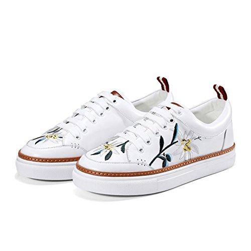 tamaño de Deporte de Las Mujeres de de Zapatillas Cordones la la 35 Primavera Zapatos con de la de caída Deporte PU qwYnxxd0fH