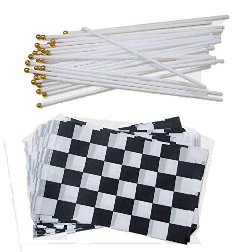 dazzling toys 72 Pack Black And White Checkered