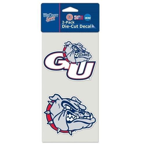 Wincraft NCAA Gonzaga University Perfect Cut Decal (Set of 2), 4'' x 4''
