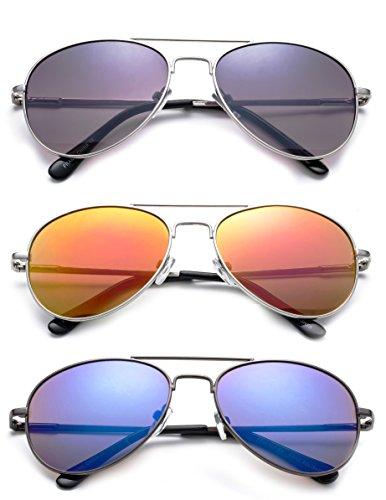 ff635639b8 Newbee Fashion - Kyra Kids Popular Aviator Flash Mirrored Lead Free Fashion  Aviator Kids Sunglasses
