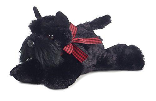 "Aurora 30361 8"" Scotty Plush Toy, Small/6 x 14, Black"