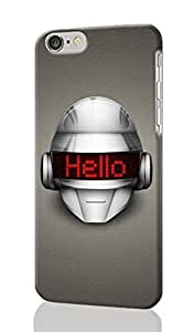 Daft Punk - Hello Pattersn Image - Protective 3d Rough Case Cover - Hard Plastic 3d Case - For iphone 5C -