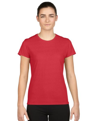 Gildan Ladies/Womens Core Performance Sports Short Sleeve T-Shirt (S) (Red)