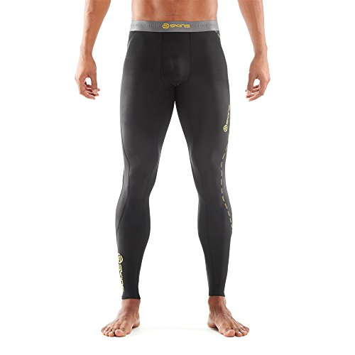SKINS Men's DNAmic Compression Long Tights, Black, X-Small by Skins (Image #1)
