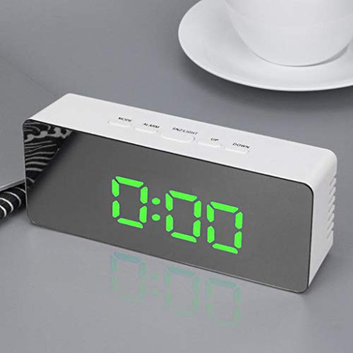 Scenxion Digital Alarm Clock-Large Smart LED Display, Snooze Function,Adjustable Brightness – Small and Light for Travel…