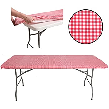 tablecloth for 6ft folding table fitted rectangular table cloth for 6 foot size. Black Bedroom Furniture Sets. Home Design Ideas