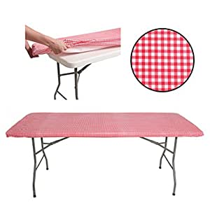 Amazon Com Tablecloth For 6ft Folding Table Fitted