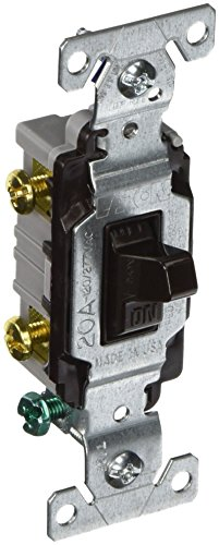 Commercial Grade Toggle Switch (Eaton CS220B 20 Amp Double Pole Premium Toggle Switch, Brown)