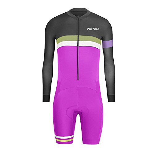 Assos Leg - Uglyfrog 2016 New Men's Skinsuit Long Sleeve Cycling Jersey with Short Legs with Gel Pad Outdoor Sports Wear Triathon Clothing #10