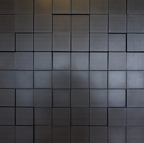Harmony Cubes PVC Thermoplastic 3D Wall Panels - Decorative Luxury Interior Design Wall Paneling Decor Commercial And Residential Application 2' x 2', 4 sq ft (Dark Okasha) by Retro Art