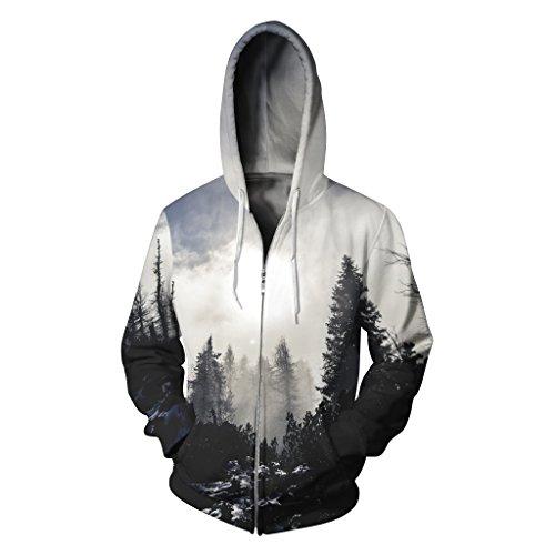 Forest Felpa White Amoma Cappuccio Uomo Con XqgnnSpxYd a55e32d3309
