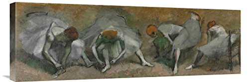 """Global Gallery """"Edgar Degas Frieze of Dancers C.1895 Gallery Wrap Giclee on Canvas Print Wall Art, 10.35"""" x 30"""" from Global Gallery"""