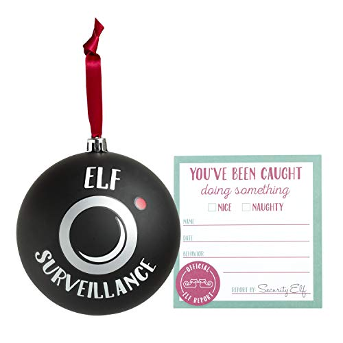 Kate & Milo 'Elf Surveillance' Holiday Ornament and Set of 10 Elf Report Cards -