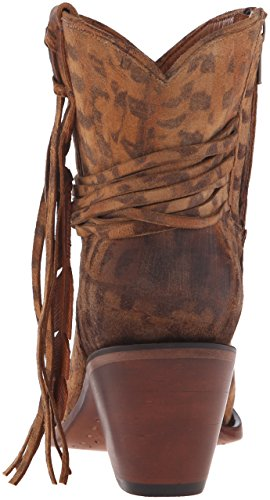 Tan Tan Feathered Womens Boots M6002 Hand Robyn Lucchese Fashion Tooled qUxCFF