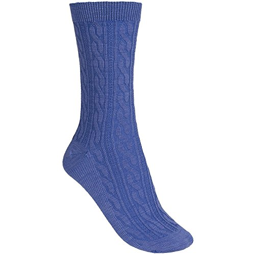 Smartwool Cable Crew Socks Polar Purple (Periwinkle) Heather M (7-9.5) (Cable Womens Socks Smartwool)
