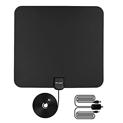 Ecandy 1080P Amplified HDTV Antenna- 50 Miles HDTV Indoor Antenna With Detachable Amplifier Signal Booster,High Reception Homeworx Antenna with 13ft Coaxial Cable for TV