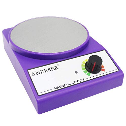 (ANZESER Magnetic Stirrer Magnetic Mixer 3000 RPM with Stir Bar Max Stirring Capacity 3000mL, Purple)