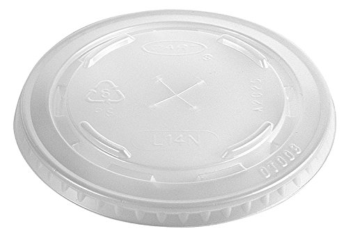 Dart Container - 695TS - 14 oz. Plastic Straw Slotted Cold Cup Lid, Clear; PK1000