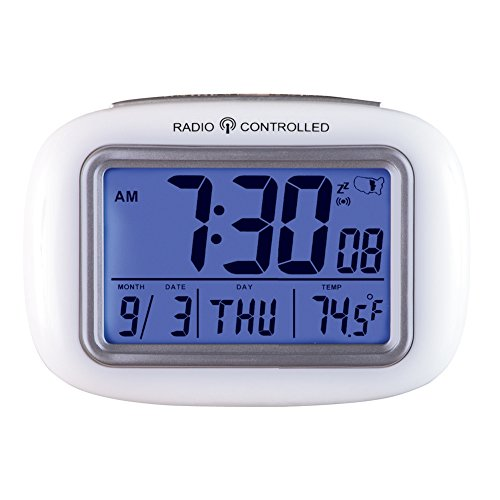 Collections Etc Cordless Atomic Digital Alarm Clock, (Alarm Collection)