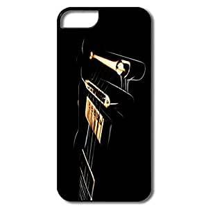 Customize YY-ONE Silicone Black Electric Guitar IPhone 5/5s Case For Her