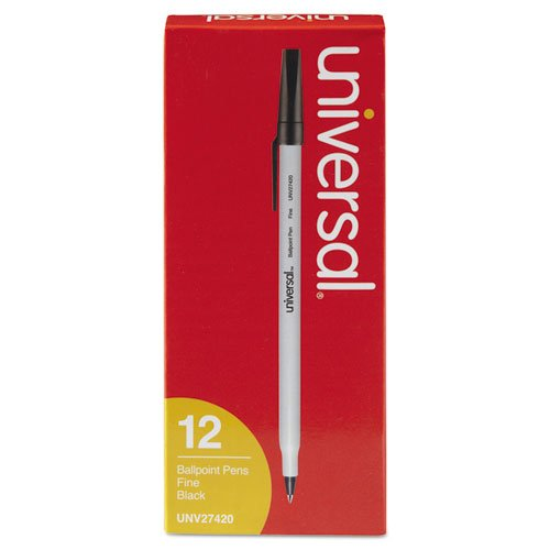 - Universal 27420 Fine Point Black Ink Ballpoint Pen (12 per Pack) (Discontinued by Manufacturer)