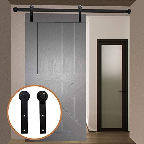 LWZH 9.6FT/291cm Herraje para Puerta Corredera Kit de Accesorios para Puertas Correderas,Negro I-Forma: Amazon.es: Bricolaje y herramientas