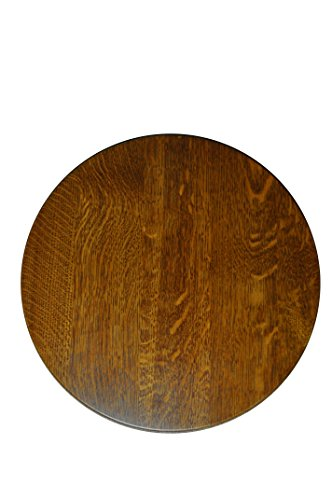 "Hope Woodworking Round Lazy Susan 18"" made of Quartersawn Oak Wood with a Michael Stain (Oak Wood Lazy Susan)"
