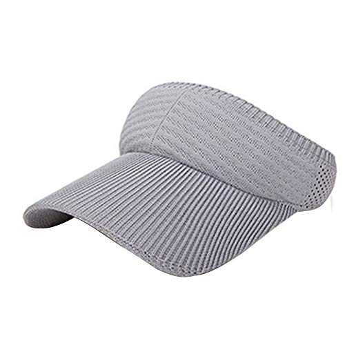 Sun Visor Hat for Women Men, Tuscom Sport Sun Visor One Size Adjustable Cap Plain Baseball Cap Summer UV Protection Beach Cap Golf Hat for Outdoor Sports Jogging Running Tennis