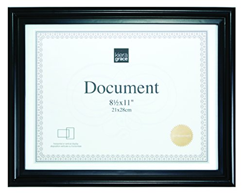 Kiera Grace Embassy Document Frame, 8.5 by 11 Inch, Black by Kiera Grace