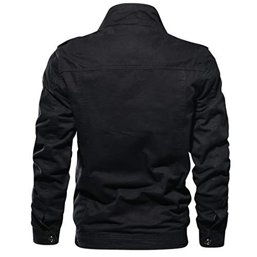 Insenver Men's Military Jacket Cotton Lightweight Windbreaker Jackets Casual Outdoor Coat 3