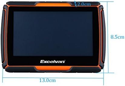 Excelvan - Navegador GPS Para Coche y Motos (Pantalla TFT 4.3, Windows CE 6.0, Impermeable IPX7, Bluetooth, 8Gb, Mapas Gratuitos para Descargar, Navegación con Voz, Idiomas Compatibles) (Naranja): Amazon.es: Electrónica