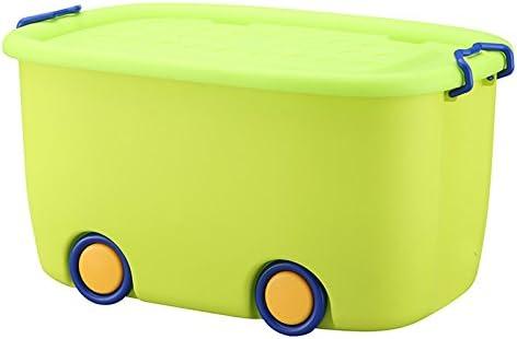 Storage Box Caja de Almacenamiento de Juguete Cajas de Almacenamiento de plástico con Tapa Ropa de Juguete Infantil Cajón de Almacenamiento de bocadillos con Ruedas (Color : Verde): Amazon.es: Hogar