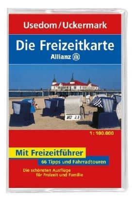 Die Allianz Freizeitkarte Usedom, Neubrandenburg, Uckermark 1:100 000