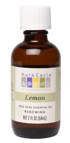 Aura Cacia Essential Oil, Renewing Lemon, 2 fluid ounce