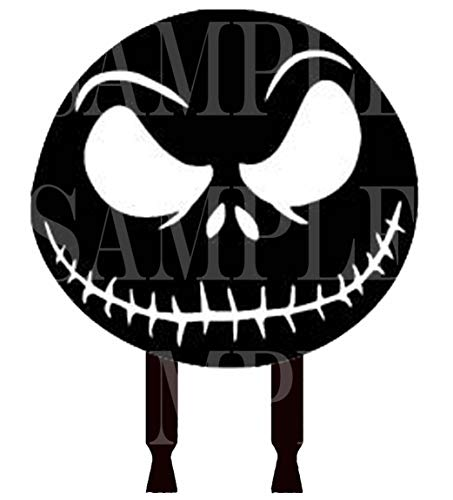 Jack Skellington Cake Topper, Face Silhouette Acrylic, Centerpiece Decoration or Photo booth Prop -