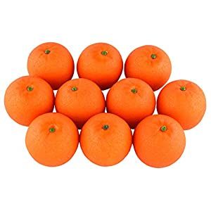 SAMYO 10Pcs Artificial Lifelike Simulation Orange / Tangerine Set Fake Fruit for Home House Kitchen Party Decoration 106