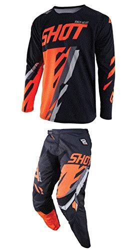 Shot Score Mens Off-Road Motorcycle Jersey 2X-Large Black//Neon Orange