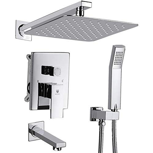 Shower Mixer Wall - HIMK Shower system,Shower Faucet Set with Tub Spout for Bathroom and 10
