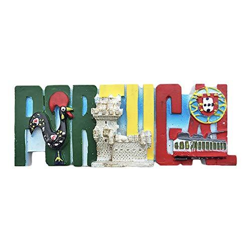 Portugal Cartas 3D Imán de Refrigerador Recuerdos Turísticos Resina Pegatinas Magnéticas Imán de Nevera Hogar y Cocina…