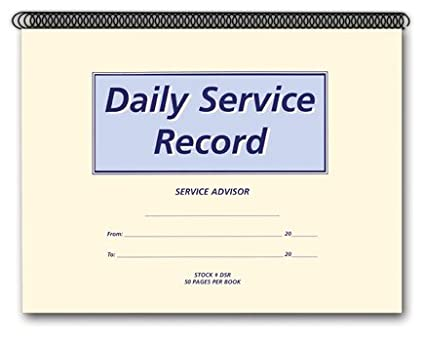 amazon com daily service record book office products