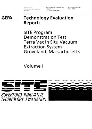 Site Program Demonstration Test Terra Vac In Situ Vacuum Extraction System Groveland Massachusetts Volume 1