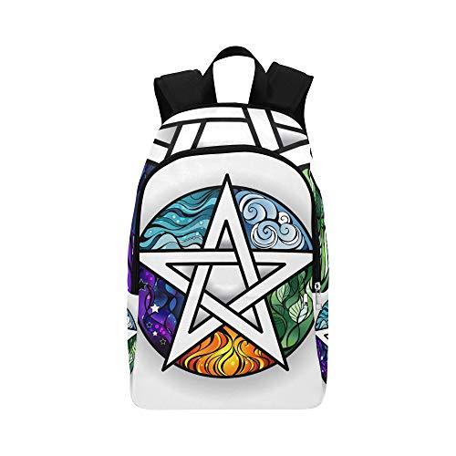 55ca3d705d00 Backpack Shoulder Bag Magic Pentagon with Angles for Men Women Teachers  Bookbag Laptop Backpack Lightweight College Picnic for Climber