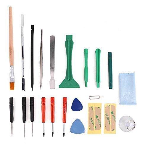 22 en 1 Kit de Herramientas de Reparación Profesional MMOBIEL contiene: pegatinas adhesivas, herramientas de apertura para...