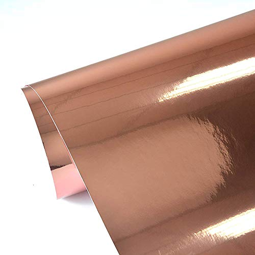 TECKWRAP Chrome Mirror Rose Gold Vinyl Wrap Car Sticker Adhesive with Air Release 11.5