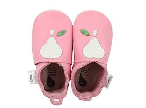 BOBUX Baby Krabbelschuhe Birne rosa Gr.: S (3-9 Monate)