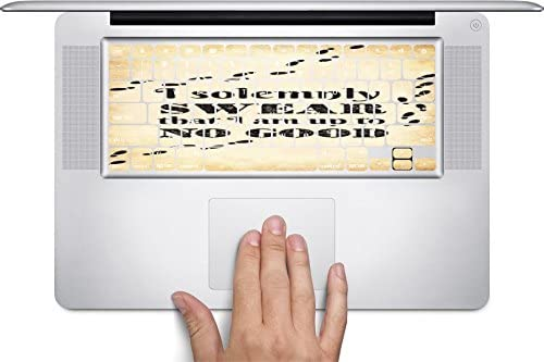 I Solemnly Swear I Am Up to No Good Quote Design Print Image Artwork Keyboard Decals by Trendy Accessories for 11 inch MacBook Air